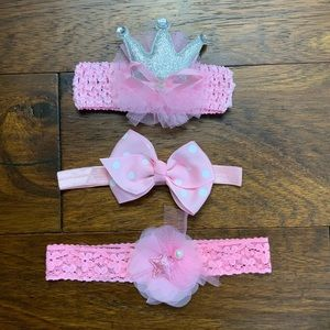 Other - 🎀Princess Headband/Bows🎀 3 for $9